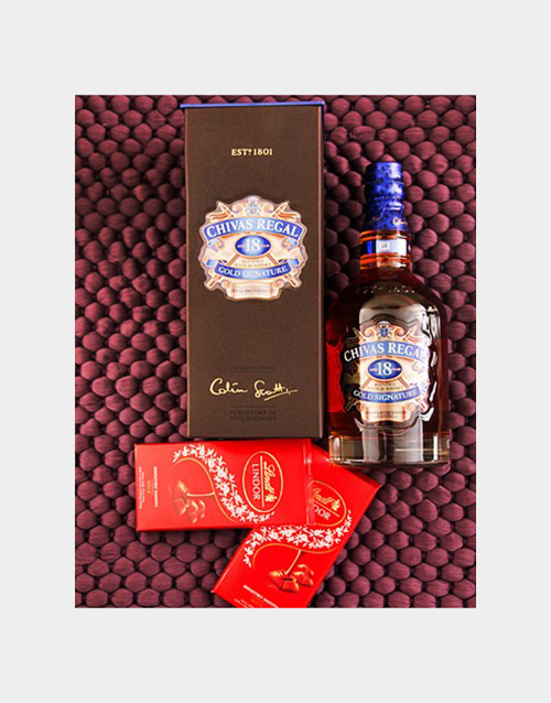 fine-alcohol: 18 year Chivas and Lindt Chocolate!