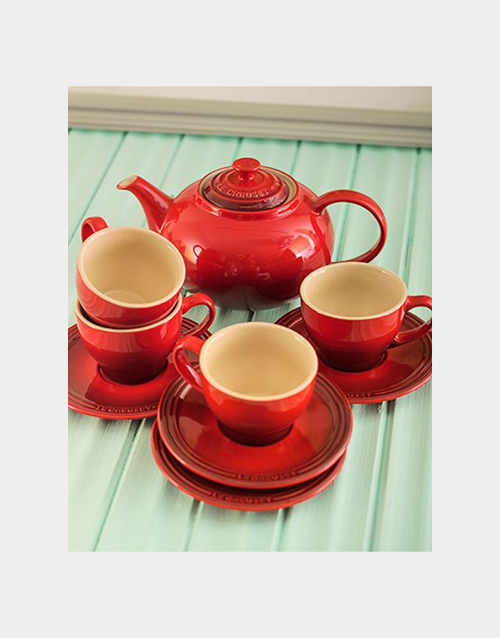 mothers-day: Red Le Creuset Tea Set!