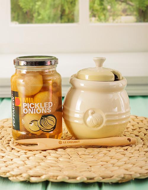 birthday: Le Creuset Onion Jar!