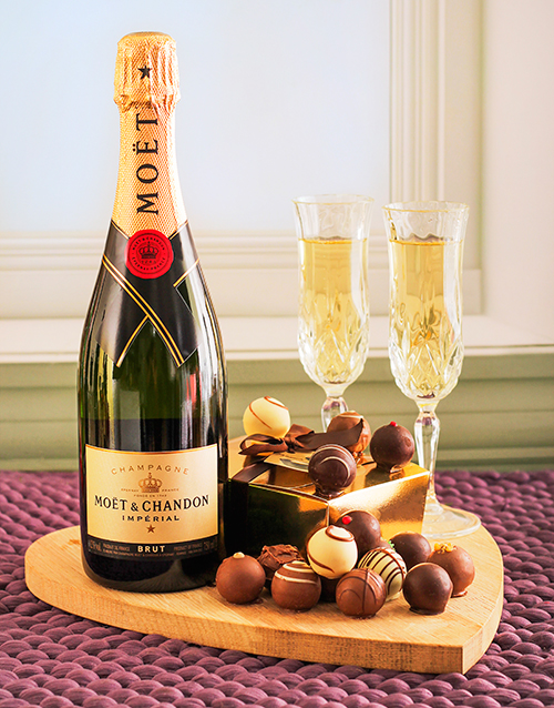 chocolate: Moet Champagne & Assorted Chocolate Truffles!