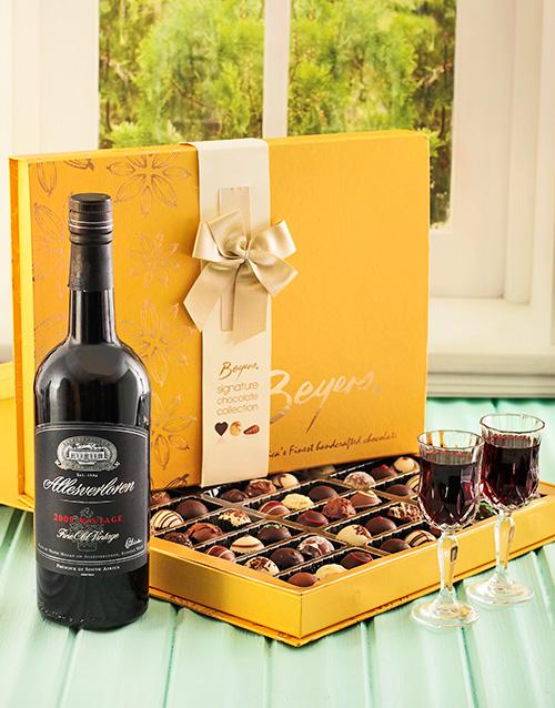 chocolate: Large Box of Truffels & Allesverloren Port!