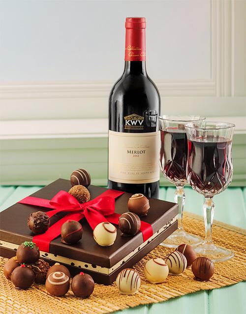 chocolate: KWV Merlot & Chocolate Truffles!