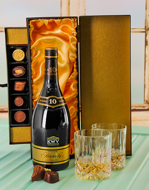 chocolate: 10 Year Brandy & Luxury Chocolate Box!