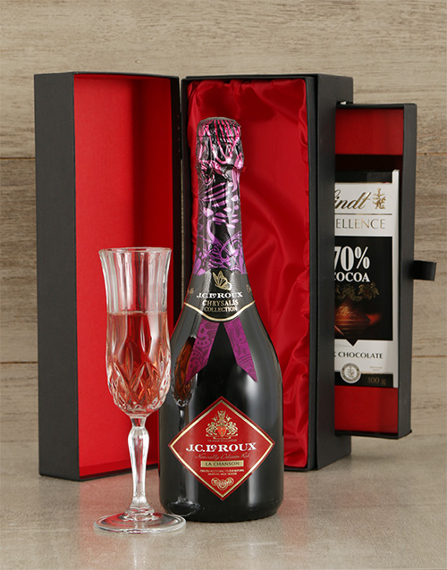 fine-alcohol: JC Le Roux Rose Sparkling Wine & Luxury Chocolate !