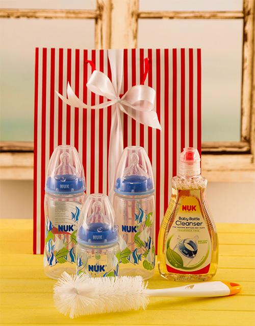 baby: Baby Boy Bottle Gift Set!