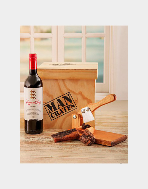 grandparents-day: Biltong Cutter & Wine Man Crate!