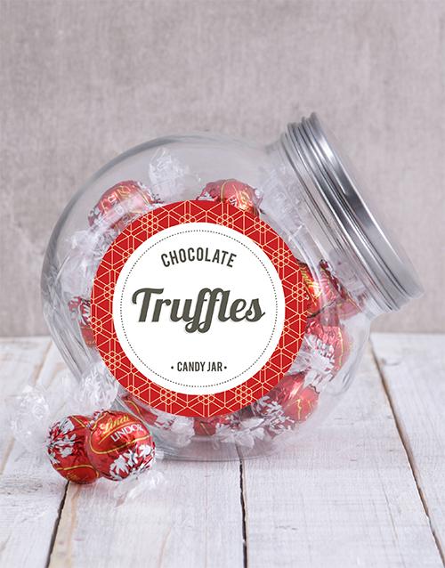chocolate: Lindt Chocolate Ball Candy Jar!