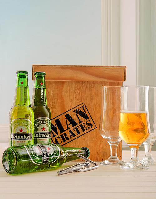 fine-alcohol: Heineken Beer Man Crate!