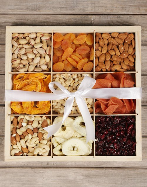 gourmet: Mixed Fruit and Nut Crate!
