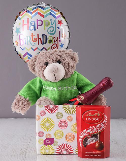 balloon: Happy Birthday Teddy Box!