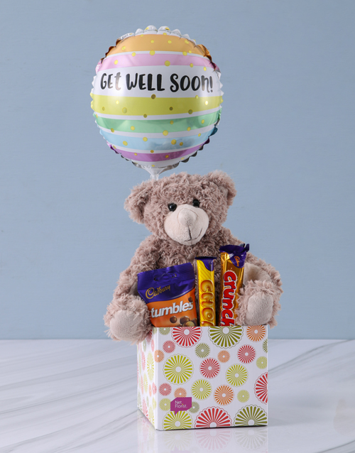 teddy-bears: Chocolates and Cuddles Get Well Gift!