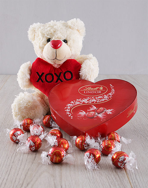 valentines-day: I Love You Teddy and Chocolate Set!
