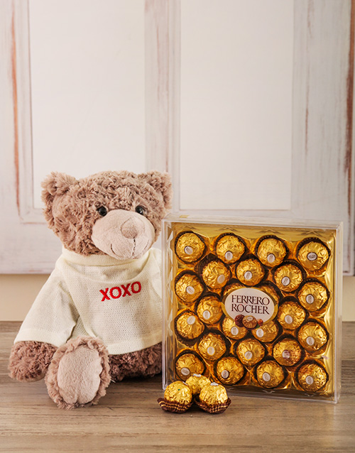 chocolate: XOXO Teddy Gift Set !