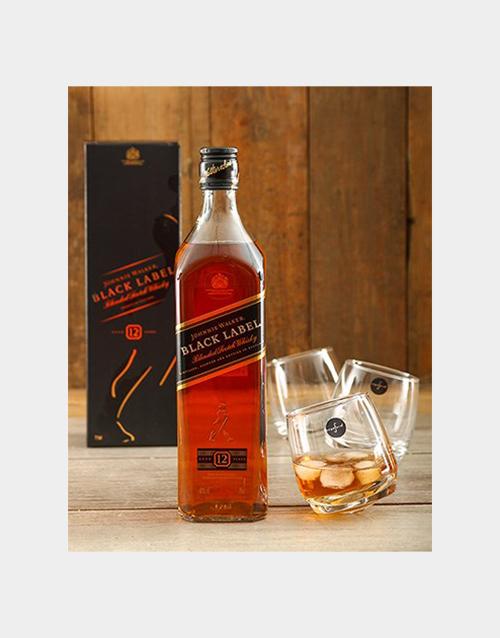 birthday: Johnnie Walker Black and Rocking Whiskey Glasses!