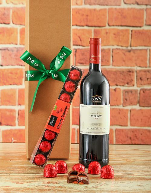 chocolate: Luxury Cherry Liqueur Chocolates and Wine Hamper!