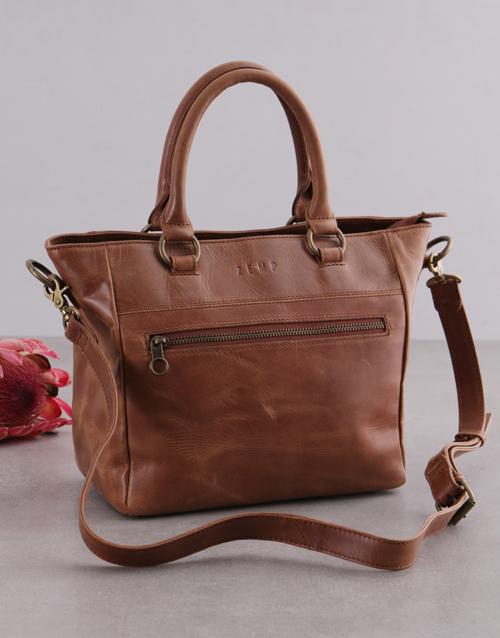 christmas: Zemp Paris Tan Leather Handbag!