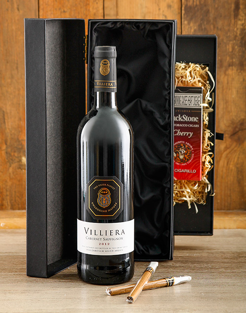 fine-alcohol: Wine and Cigar Hamper!