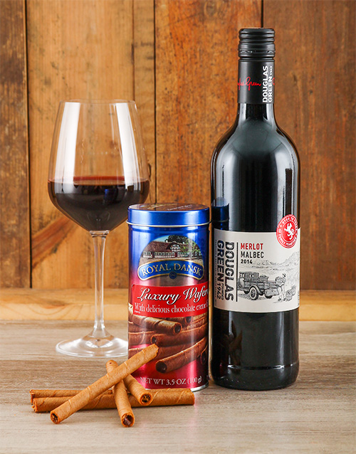 easter: Chocolate Wafer & Wine Gift!