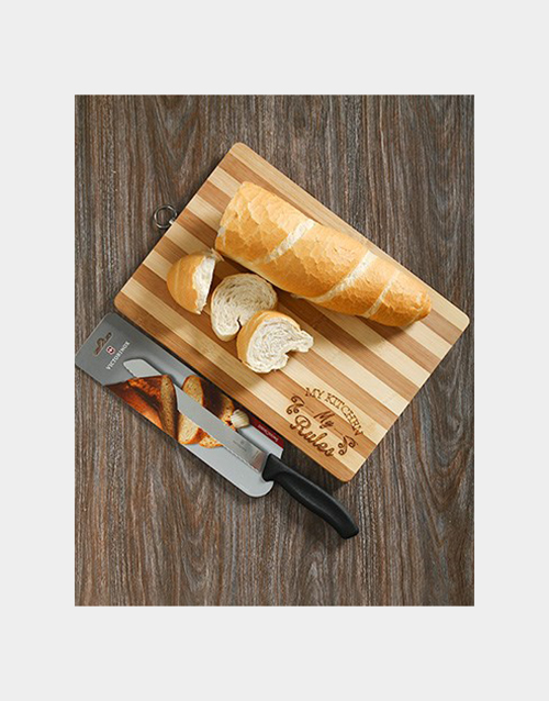 homeware: Victorinox Bread Knife and Chopping Board Gift!