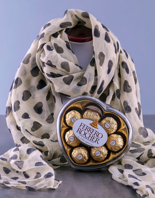 womens-day: Vintage Scarf and Truffles!