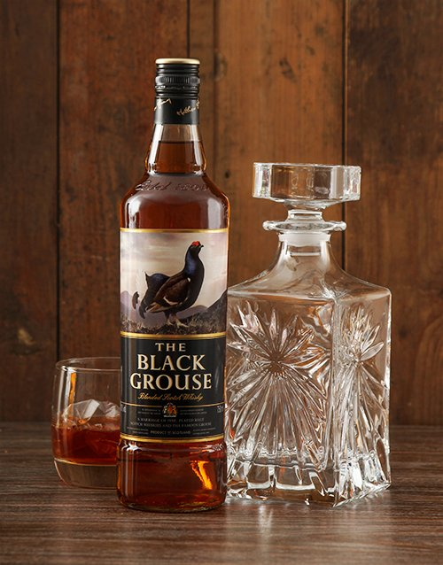 fine-alcohol: Classic Decanter with Black Grouse!