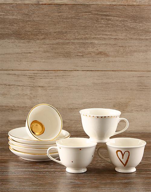 gifts: Gold Heart Tea Set!