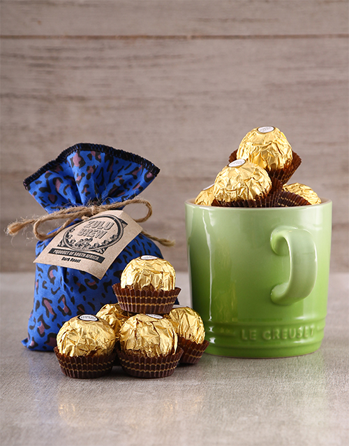 grandparents-day: Le Creuset Mug Coffee and Ferrero Rocher Gift!