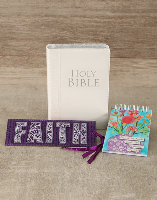 faith: NLT Bible and Notepad Gift Set!