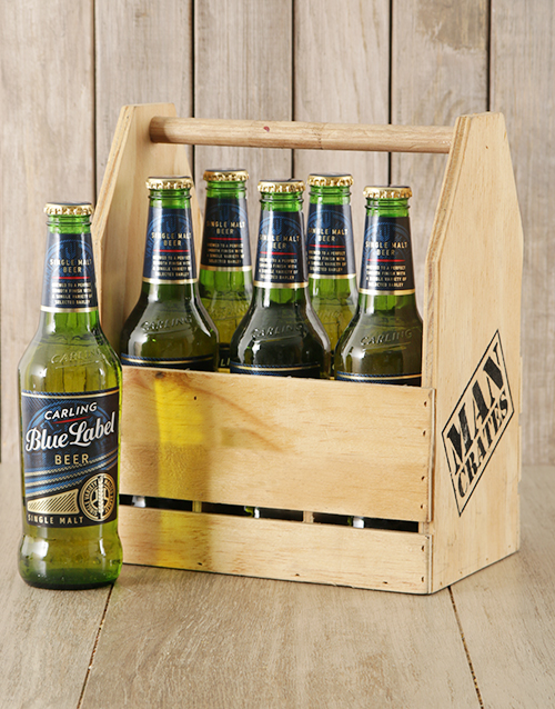 man-crates: Carling Blue Label Man Crate!