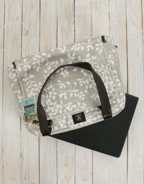 apparel: Peppertree Leaflet Latte Business Bag!