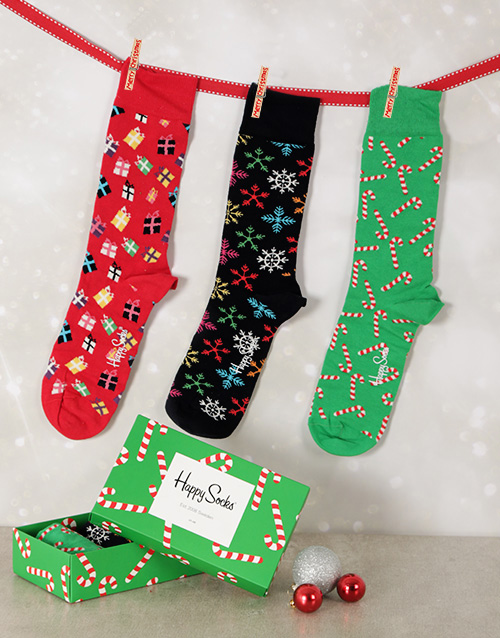 christmas: Happy Socks Festive Season Gift Set!