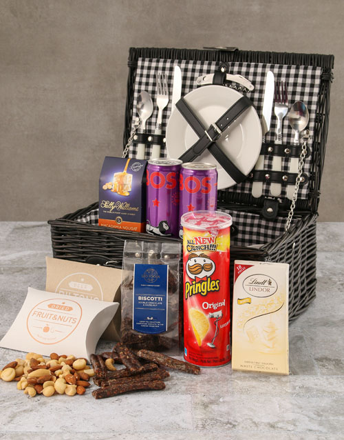 gourmet: Two Person Black Willow Picnic Basket!