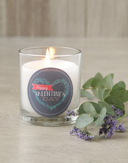 personalised: Happy Valentines Day Heart Candle!