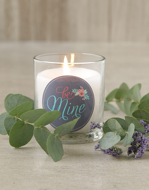 personalised: Be Mine Candle!