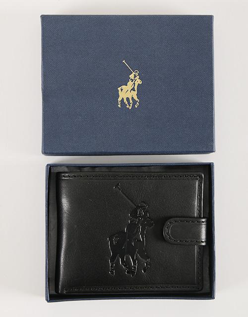 birthday: Black Polo Colorado Tab Wallet!