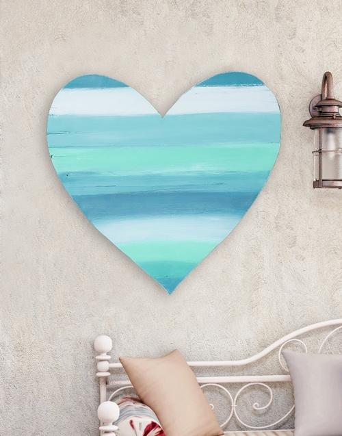 home-decor: Calming Colours Wooden Heart!