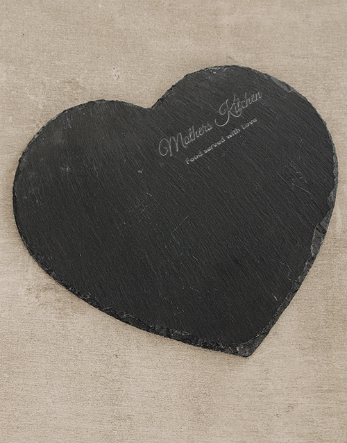valentines-day: Mothers Kitchen Heart Slate Board!