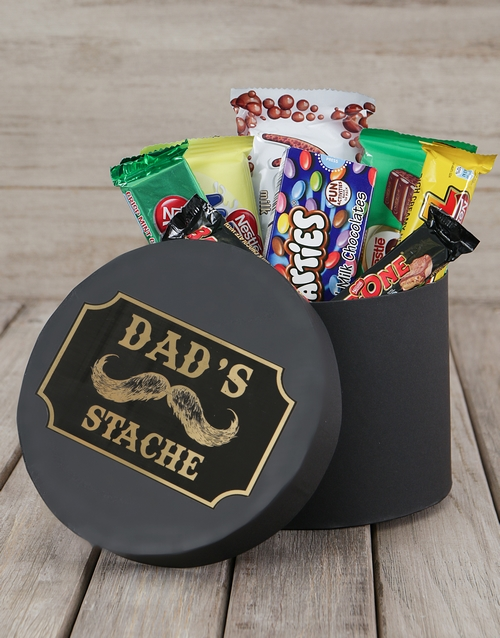 chocolate: Dads Stache Choc Hat Box!