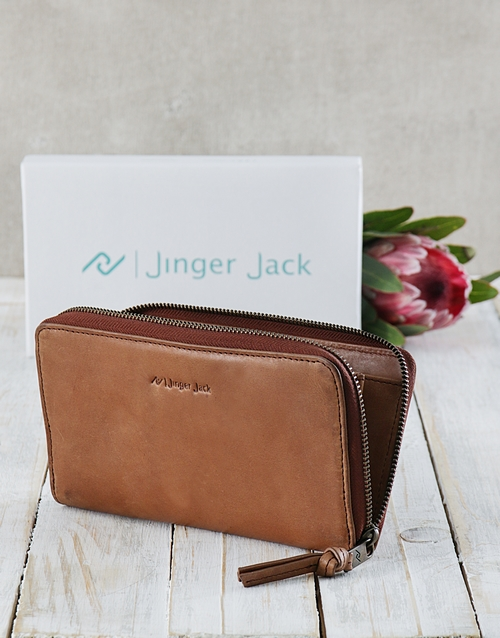 personalised: Tan Jinger Jack Jordan Ladies Purse!