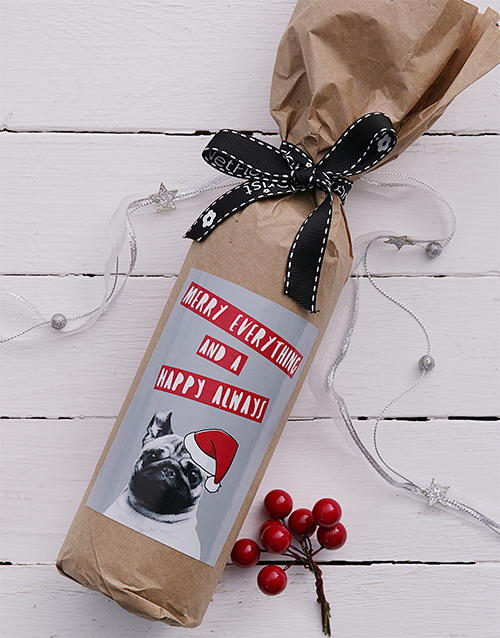 christmas: Merry Everything Wine in Craft Paper!