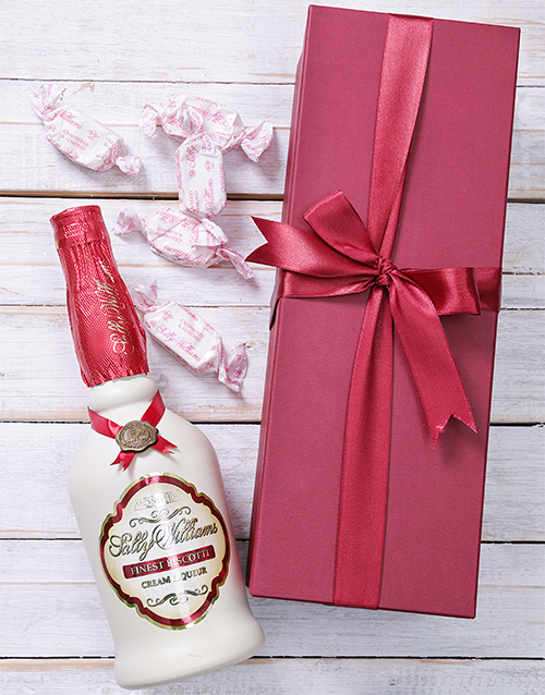 mothers-day: Red Box of Sally Willliams Liqueur and Nougat!