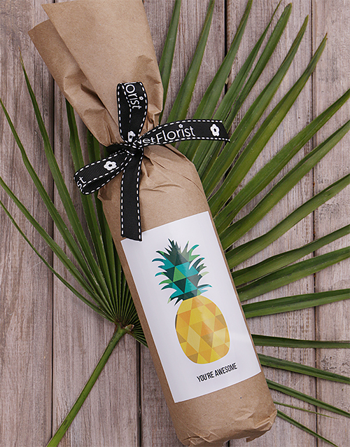 fine-alcohol: Pineapple Wine in Craft Paper!