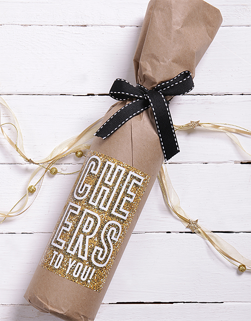 gifts: Celebration Wine in Craft Paper!