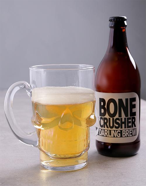 fine-alcohol: Skull Beer Glass Hamper!