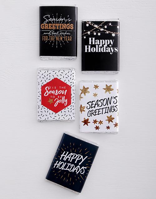 gifts: Festive Milk Chocolate Slabs!