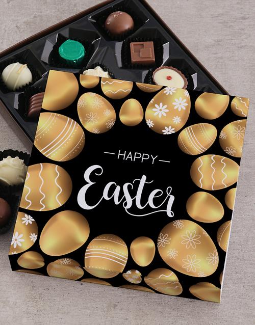 easter: Golden Egg Easter Choc Tray!