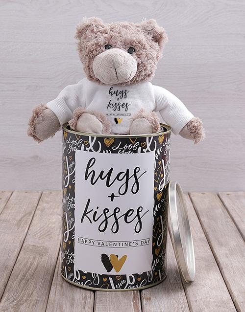 teddy-bears: Hugs and Kisses Teddy Tin Hamper!