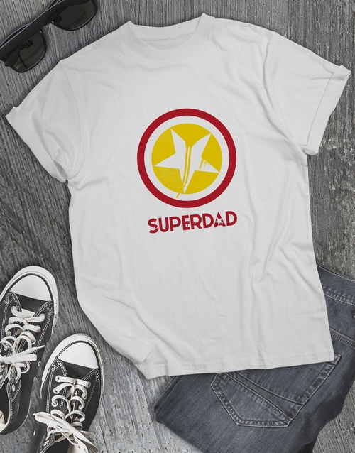 fathers-day: Super Dad White Tshirt!