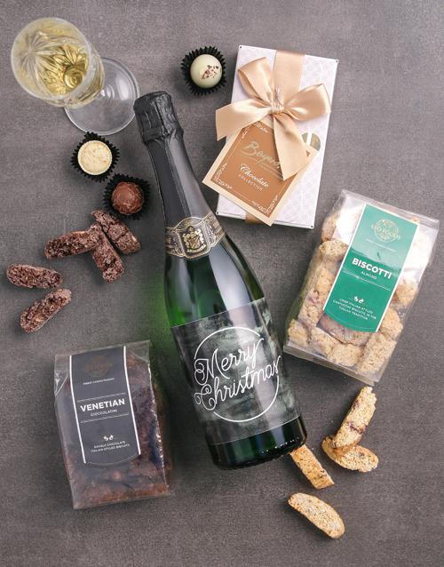 gourmet: Merry Christmas Sparkling Wine Gourmet Hamper!