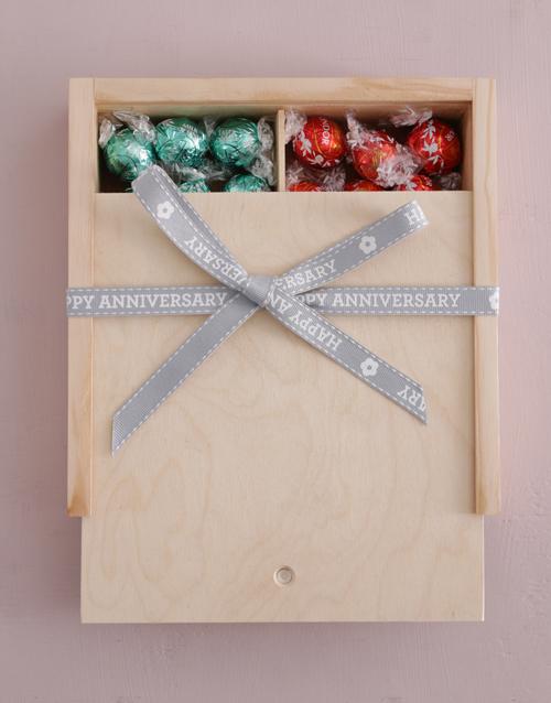 anniversary: Happy Anniversary Ribbon Lindt Treasure Box!